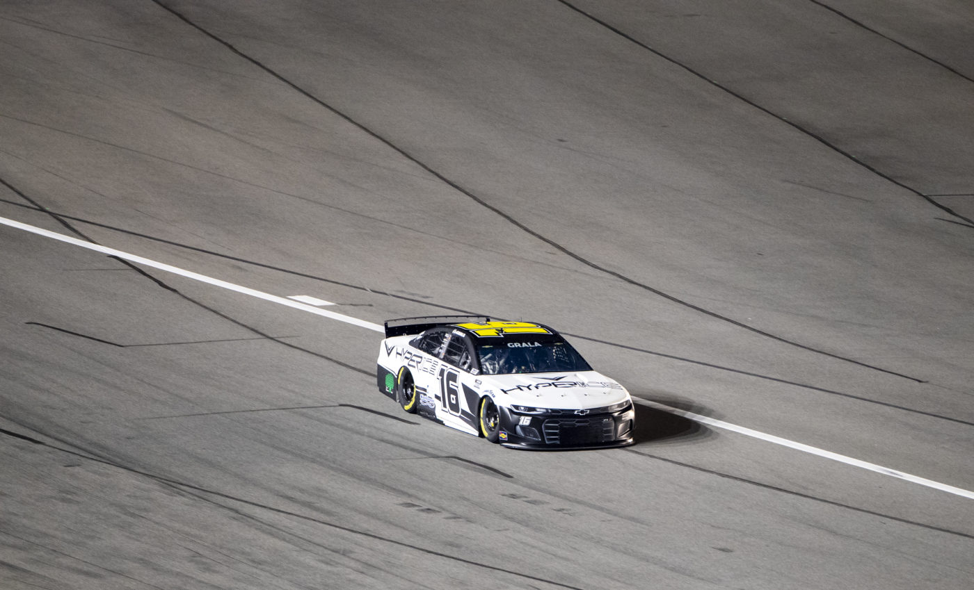 Kaz Grala takes to the track to qualify for the Daytona 500 at Daytona International Speedway in Daytona Beach, Florida.