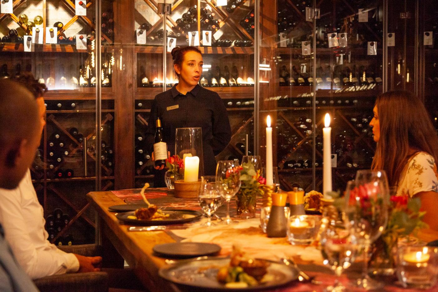 Grootbos wine cellar