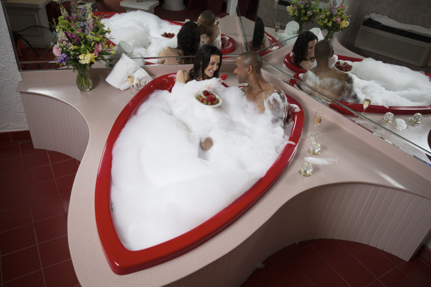 heart-shaped tubs